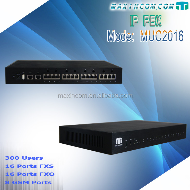 Manufacture price intercom pbx system with pbx sim card support 8 card slot