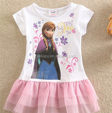 New arrival girl dress baby dress costume,childrens clothing,frozen elsa costume