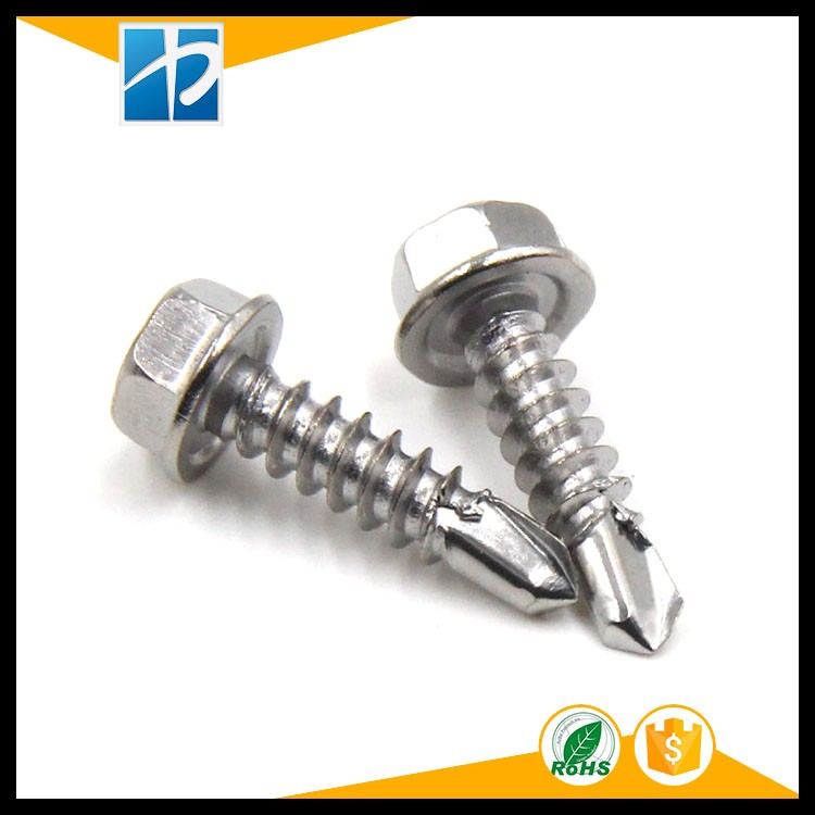 Hex flange head screw, Self-Drilling