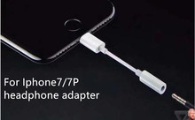 New Coming 8 Pin 3.5mm AUX connector for iphone 7/7P Headphone/earphone adapter