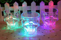Plastic Skull shape led flashing cup for easter event