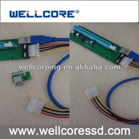 stock!!!60cm USB 3.0 PCIe X1 TO X16 with power supply cable / PCI-e 1x to 16x Adapter
