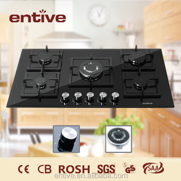 Automatic indoor portable 4 burner table top gas cooker