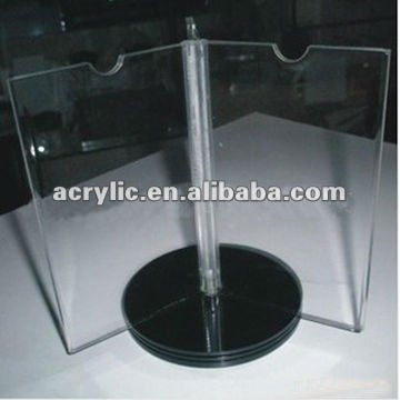 Hot new acrylic vortical /mobile billboard /display stand
