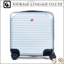 Square Luggage Trolley Plastic Cheap Cute Suitcase Travel One Set