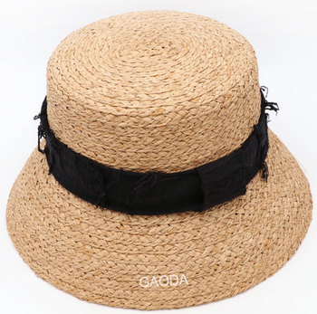 China Factory wholesale raffia braid bucket hat
