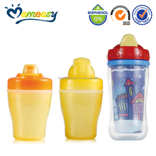 Double Layer PP Baby Training Cup With Straw