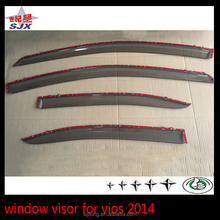 Auto parts with chrome edge window visor for toyota vios car side door