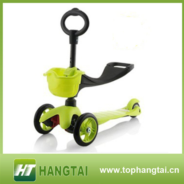 Fire 3 wheel kick scooter for kids Swing car,pu wheel kick scooter for wholesale