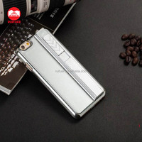 Cool Purity Metal Pattern Cigar USB Rechargeable Electronic Cigarette Lighter Case for Iphone 5 SE 6 6s Plus