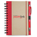 Customized Recycled Notebook with Pen, eco-friendly note book