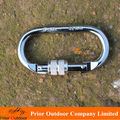 CE Certificated Silver Steel Carabiner 25KN O Type