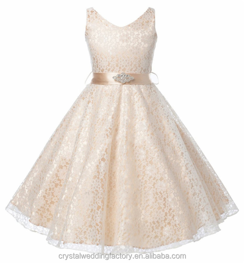 Little Flower Girls Dresses For Weddings Baby Party Frocks Lace
