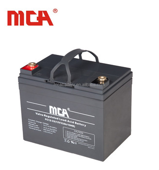 Maintenance free 12v 33ah agm energy storage chinese agm batteries