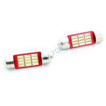 Canbus 31mm 36mm 39mm 42mm 6418 C5W C10W SV8.5 12SMD 4014 CANBUS No Error Led Car License Plate lights Dome Reading Lamp