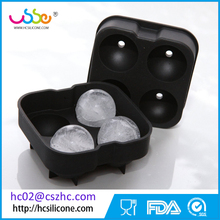 4-Cavities Silicone Ice Cube Tray Round Ice Ball Spheres Whisky Glasses Candy Chocolate Mold
