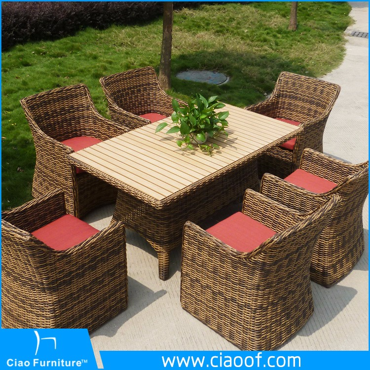Modern 6 Seats Table And Chairs Used Rattan Wicker Furniture Buy Rattan Wicker Furniture Used