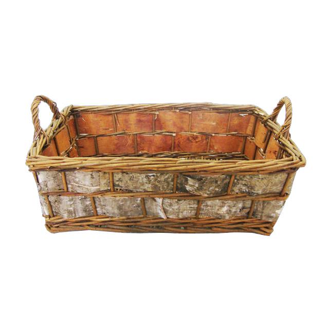 Honey Christmas Empty Gift Basket with Handle