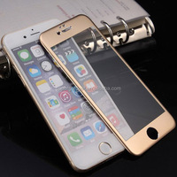 3D full cover tempered glass screen protector with Matellic Gold & Metallic pink colour for 6s/6s plus