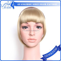 Top quality cheap wholesale synthetic fringes hair pieces bangs, hair closure piece, hair extension outlet