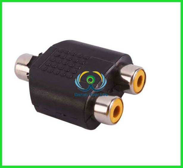 hot sell 1 to 2 RCA PLUG AV Splitter Converter Adapter RCA Audio Adapter