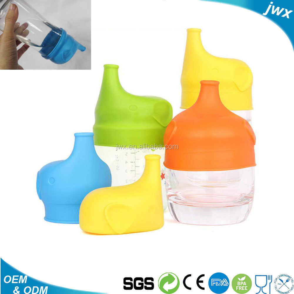 Silicone Sippy Cup Lids Spout Makes Cup into Spill-Proof Sippy Cup for Babies and Toddlers