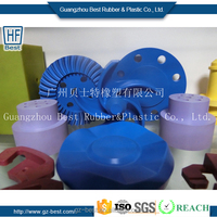 Plastic furniture foot pad