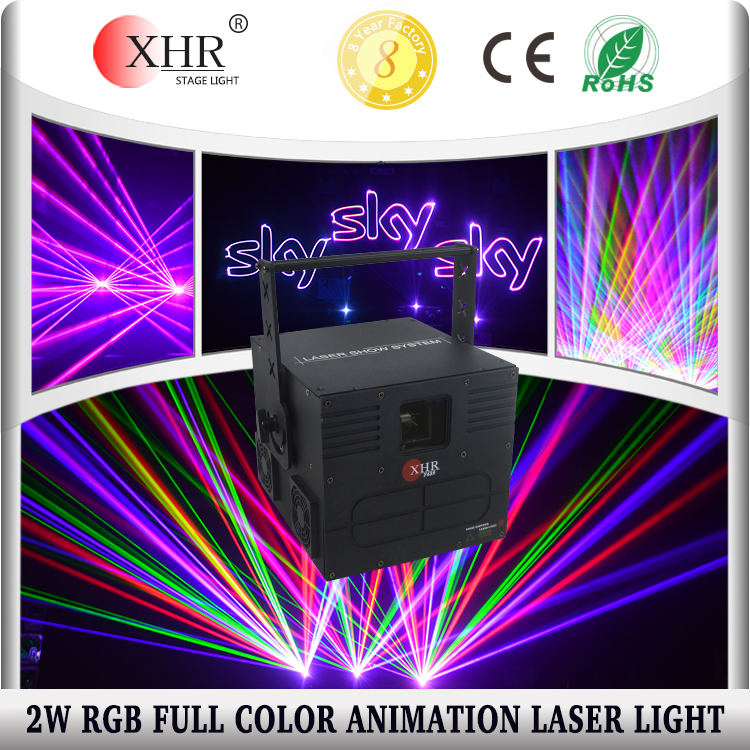 2w cheap stage laser Full Color animation rgb laser disco lights