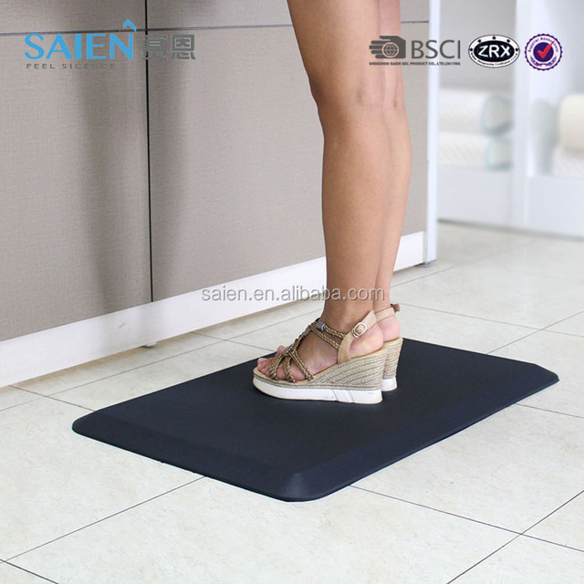 Office home PU foot massage standing desk kitchen mefoam anti fatigue floor mat