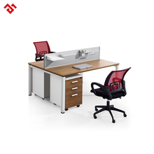 Cheap furniture wood desk office workstation for 2 people office desk