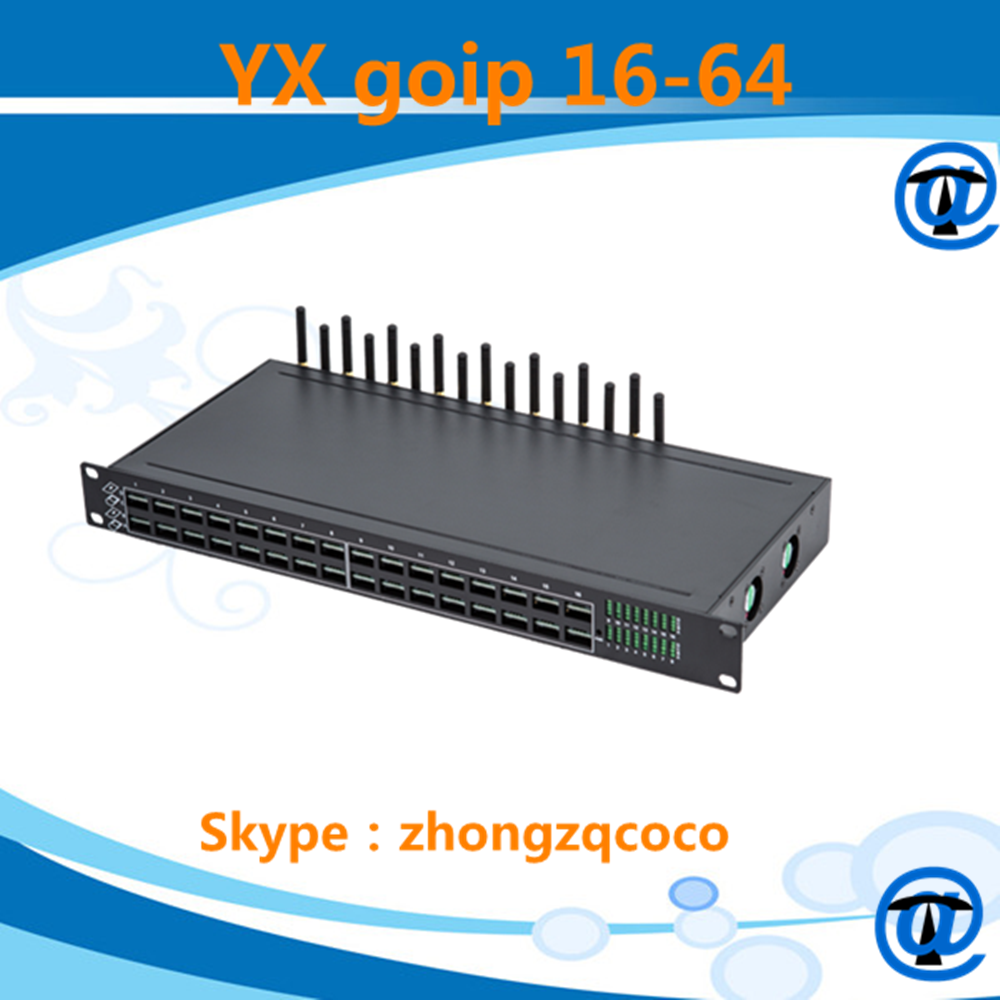 high quality goip 16-64 gsm gateway Save your internet bandwidth ,15kb for 1 call