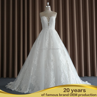 SW16670 front short long back lace mermaid sexy wedding dress for mature bride