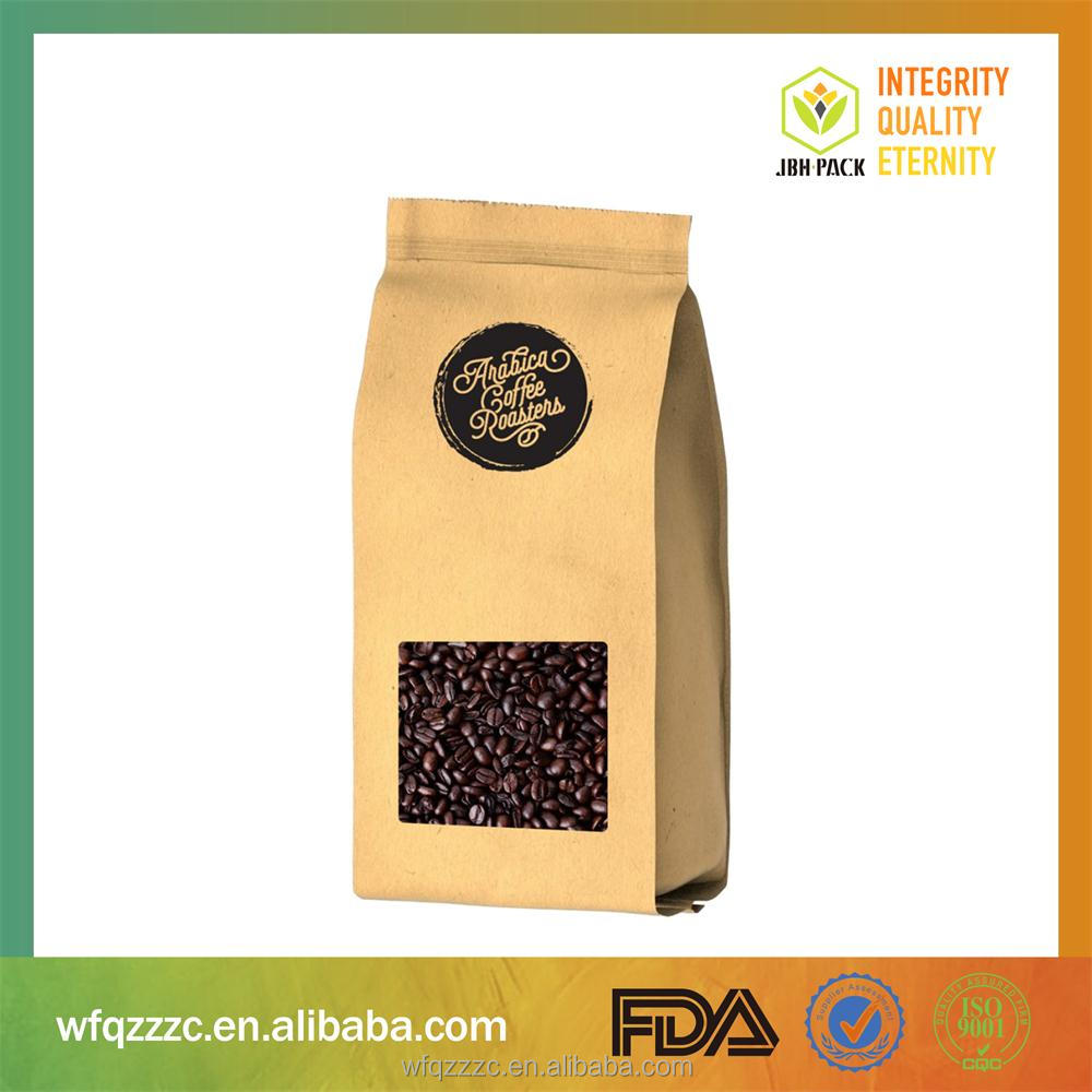 Alibaba China Supplier Side Gusset Laminating Kraft Paper Standing Up Pouch Bag For Packaging Tea/Coffee Bean/Snacks