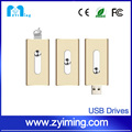 Zyiming For iPhone otg usb flash drive 1gb to 64gb 3 in 1 for PC