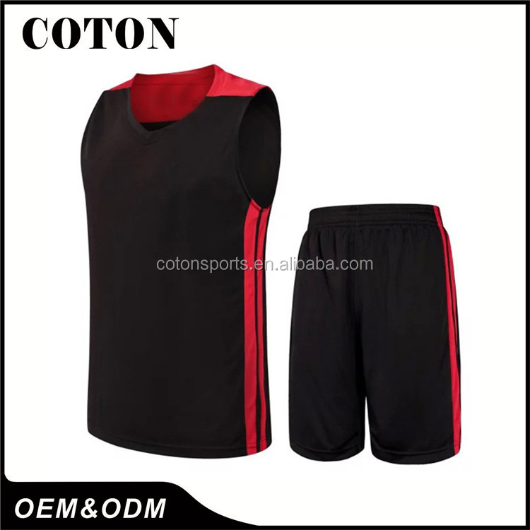 designer basketball jersey black and red