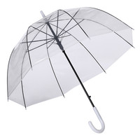 "42"" Automatic Open Apollo Transparent Clear Bubble Dome Rain adult clear umbrella"