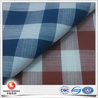 yarn dyed 100% cotton plaid poplin from woven fabric manufacturer