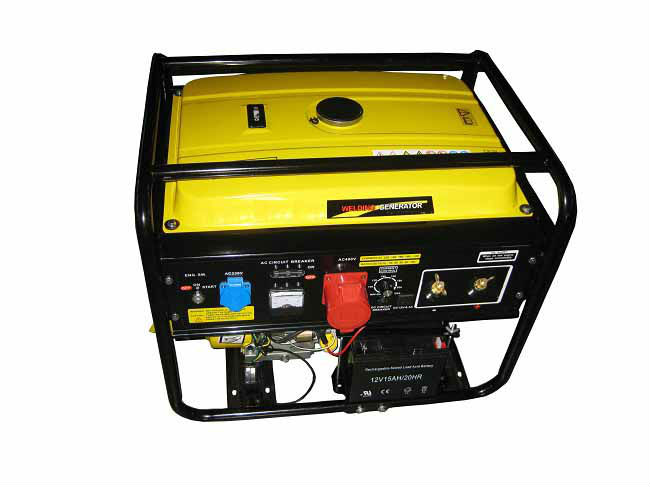 2013 year Top Quality built-in 1 phase and 3 phase output gasoline welding generator