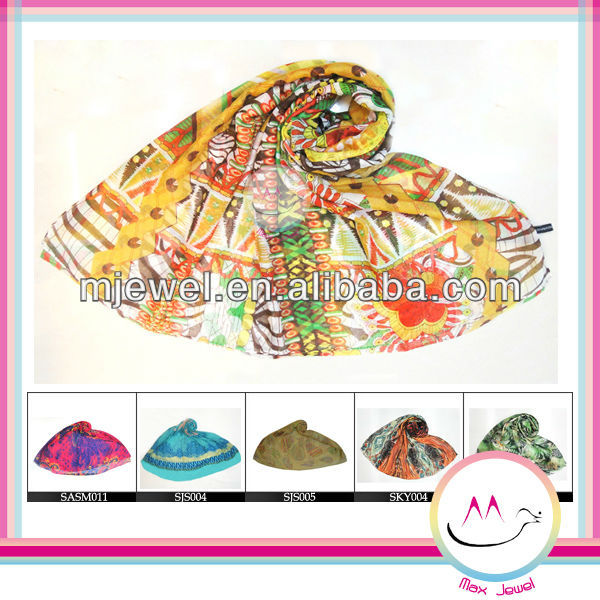 Factory boho style wholesale cotton scarves