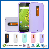 C&T Flexible transparent tpu ultra slim case cover for motorola droid turbo 2 protective case