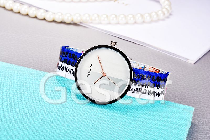 RE003 new arrival hot sale watch flower figure printing fabric strap watch Rebirth quartz watch
