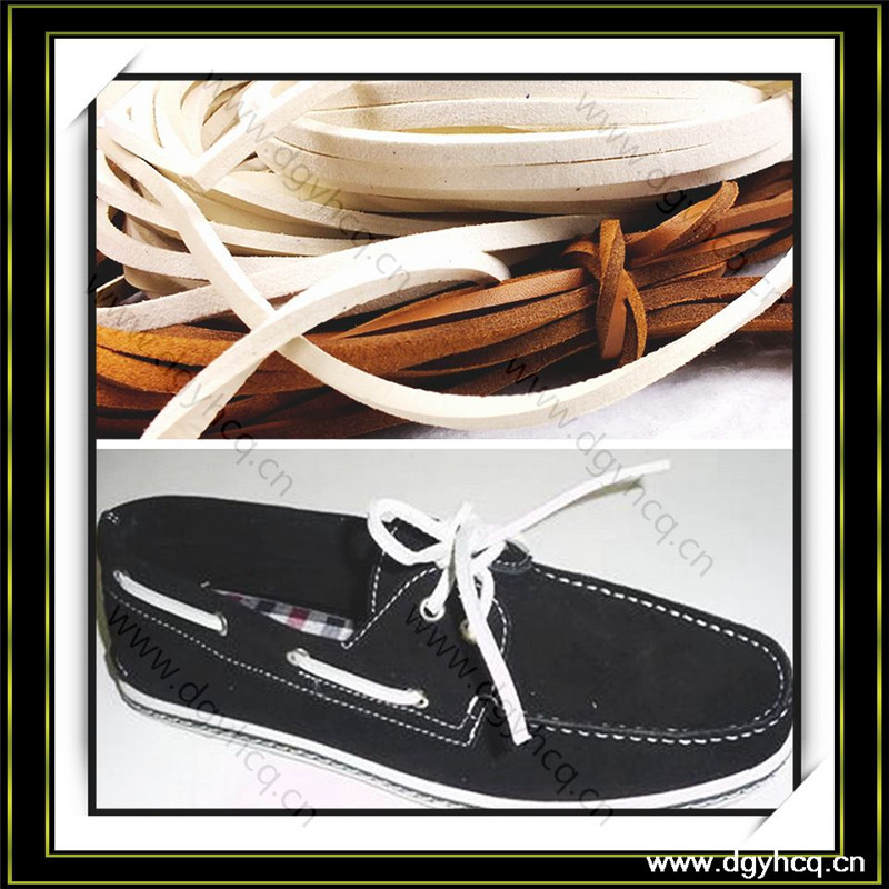 real cow leather shoe lace round leather strips braided leather cord