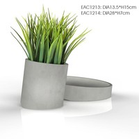 slope design garden decorative beton cheap small flower pots