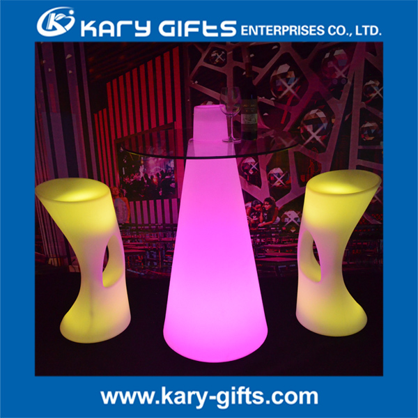 LED furniture outdoor event interactive bar table