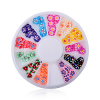 Fashion nail art polymer clay designs nail art colorful flower designs handmade DIY nail art