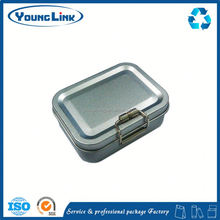 r tea packaging tin box with plastic lid