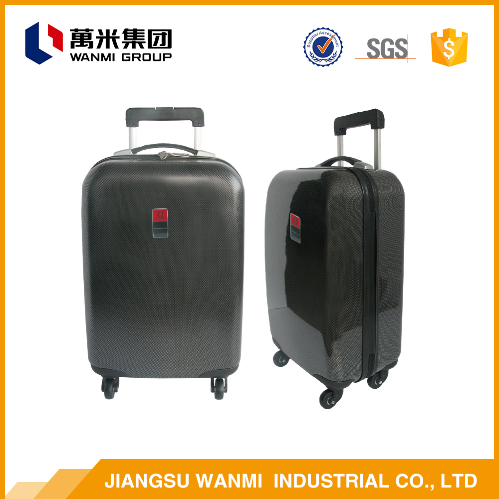 Factory direct sale smooth abs travel clear luggage cover bag sets