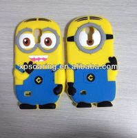 3D minions silicone cover case for Samsung galaxy s4 mini I9190