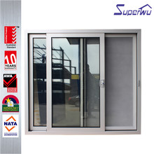 Superwu standard door size aluminium glass sliding door