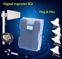 2015 hot sale 5W dual band 850 1900 MHz range extender quad band cell repeater with low price